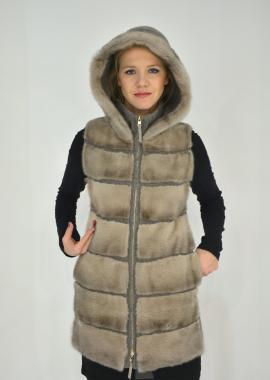 Cachemire + rivestimento in pelliccia visone femmina